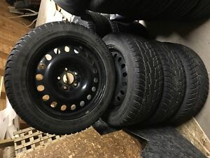 Winter Tires mounted on Steel Rims