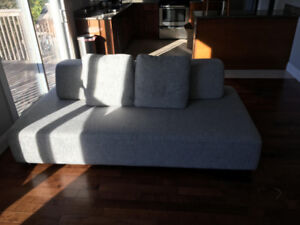 grey sectional (detachable)
