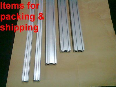 Aluminum T-slot Extruded Profile 20x20-6 20x40-6 L400-350-300mm 5 Pieces Set