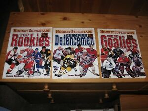 HOCKEY - NHL SUPERSTARS BOOKS (3) - REDUCED!!!!