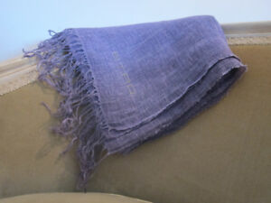 Etro Made in Italy purple linen scarf