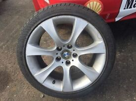 Bmw E60 E61 5 series alloy wheel with good tyre breaking Bmws Belfast