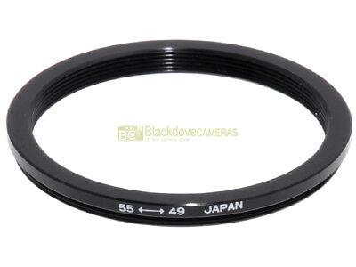 Anello adattatore step down 55/49mm. x montare filtri 49mm su obiettivi diam. 55