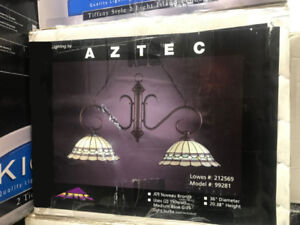 AZTEC Art Nouveau Bronze  2-light Hanging Fixture