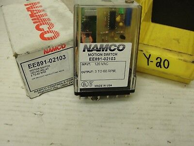 Used Namco Motion Switch 120vac 3 To 60 Rpm Ee891-02103