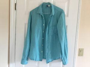 Men's H&M Turquoise Long Sleeve M- Size Shirt London Ontario image 2