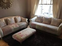 Dfs sofas chaise longue and footstool