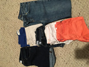 Size 0- Shorts and 1 pair of jeans