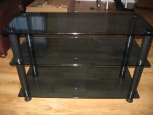 Table de TV en verre