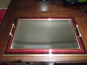 Matching Mirrored Tray and Case