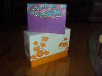 Get organized...decorative storage boxes with covers!!