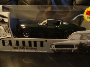 scale 1.18 die cast 1968 ford mustang from the movie bullitt