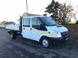 2012 62 FORD TRANSIT 100 T350 DOUBLE CAB TIPPER DIESEL 35TH MILES IN WHITE