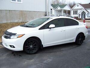 2012 Honda Civic ex  toit air  mag fog ailleron garantie