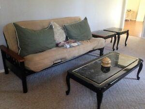 COFFEE TABLE WITH MATCHING SIDE TABLES, EXCELLENT CONDITION