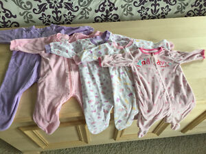 Girl Sleepers- 6 mth Kitchener / Waterloo Kitchener Area image 1