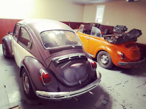 2 × 1971 VW Beetles + parts 4 SALE