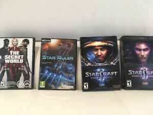 PC Games (Lost World, Star Ruler, Starcraft II)