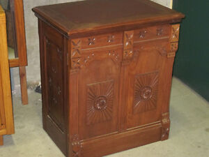 Beautiful Unusual Antique Cabinet - Pat. 1889