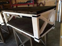 Handcrafted, rustic, two toned coffee tables 2 available