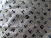 BLUE on WHITE  Pair of IKEA TAB TOP PANELS