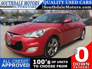2013 HYUNDAI VELOSTER W/TECH | LEATHER/CLOTH | SUNROOF | REAR CA