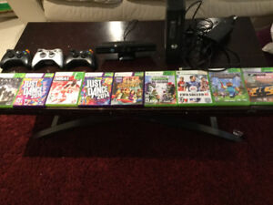 xbox 360,kinect,3 controllers,9 games good condition 110$ or obo