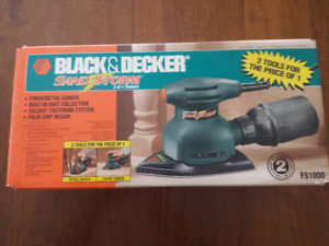 Sander/Black & Decker 2 tools for the price of 1