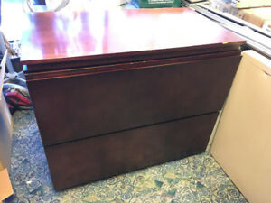 Legal size wood filing cabinet