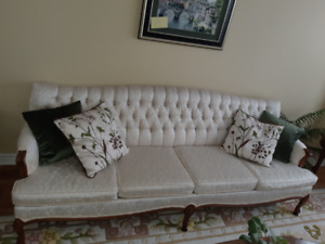 Vintage French Provincial Couch and Chair - Immaculate