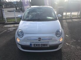 Fiat 500 Lounge 2011 In White, 1Lady Owner, 53,000mls, F/S/H, Immaculate Inside+Out, 4M MOT, SatNav