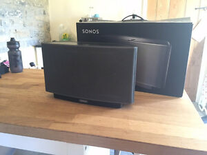 Three Sonos PLAY:5 Speakers (1st gen) and a Sonos Boost