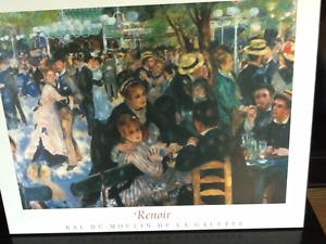 Reproductions de tableaux célèbres Monet et Renoir /cadre rigide