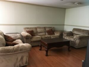 Fully furnished basement with bedroom for rent to a student