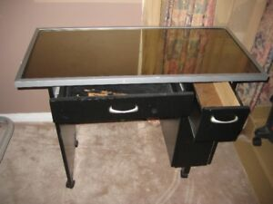Mirror top black desk 38L x 18W  29 High