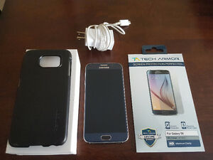 UNLOCKED Mint Condition Samsung Galaxy S6 - case and screens