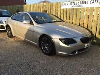 Bmw 645 ci automatic 54 reg 4.4 litre showroom condition loads of extras re mapped