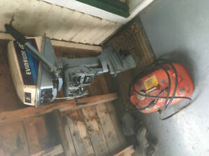 Evinrude outboard motor with tank