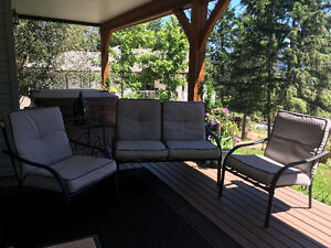 Patio Love seat and Lounge Chairs