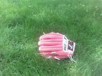 Little girls baseball glove