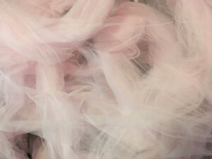 Soft pink tulle