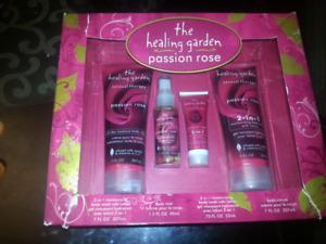 Healing garden passion rose gift set