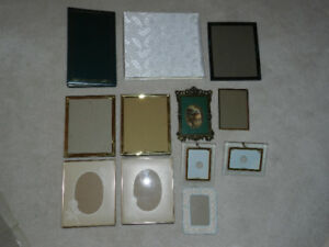 Brand new, picture frames and albums, some brass, all exc cond