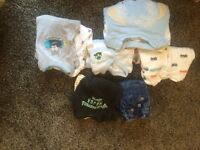 Assorted newborn clothes