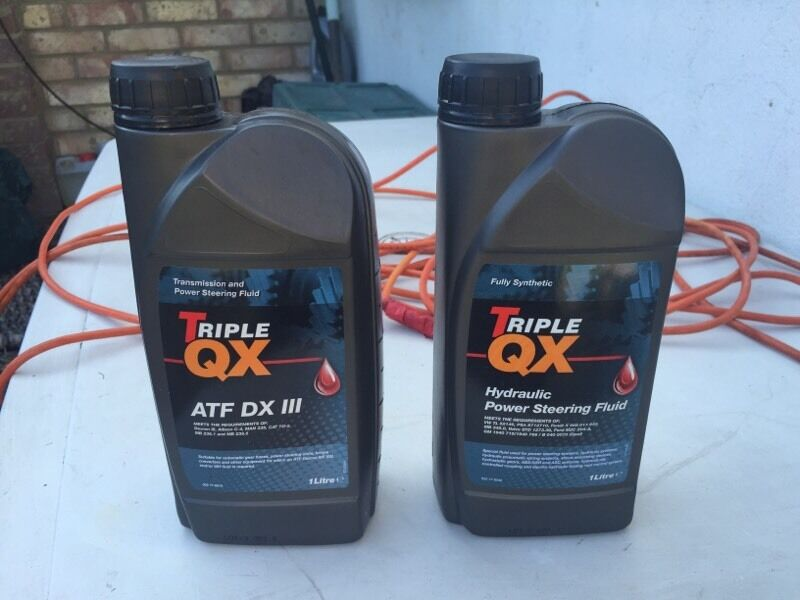 Hydraulic power steering fluid and ATF DX iii brake fluid brand