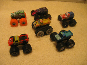 SIX VINTAGE MINI TRUCK RACER COLLECTIBLES