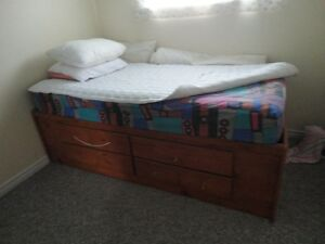 Single bed and extra metal bed frame