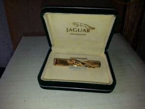 BRAND NEW LIMITED EDITION Jaguar Gold Tie Clip in BOX