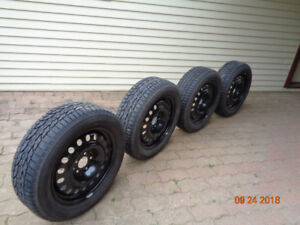"""4 -  17""""  Snow tires and rims"""