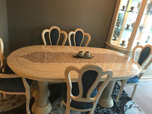 Dining table and hutch